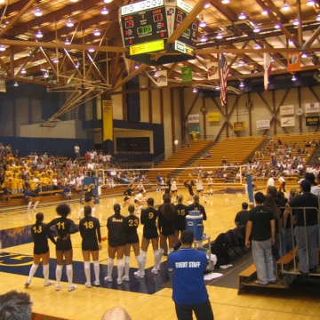 UCSB Events Center during volleyball game